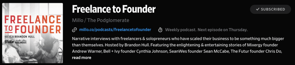 Freelance to Founder Podcast with Brandon Hull