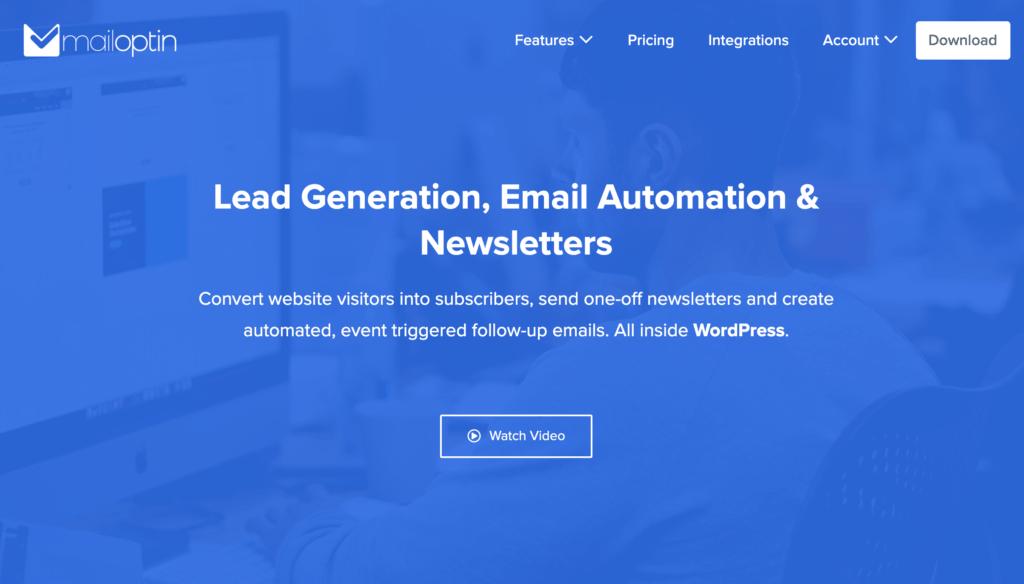 MailOptin Homepage