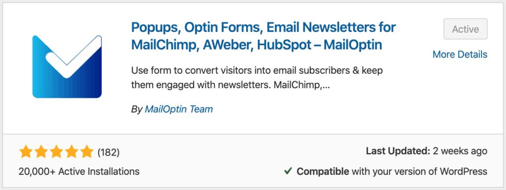 MailOptin via WordPress