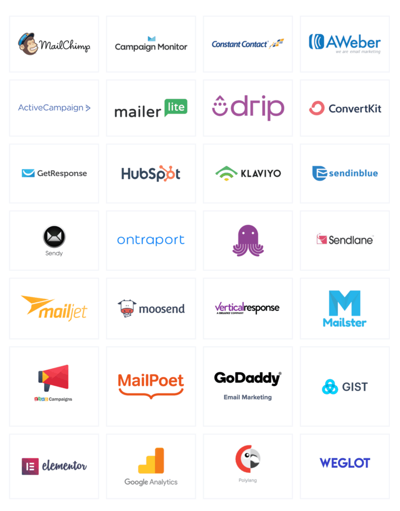 MailOptin - Available integrations