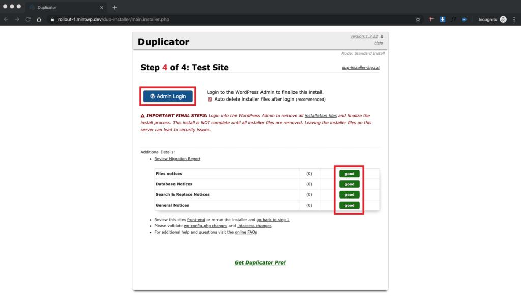 WordPress Blueprint Deploy - Step 7