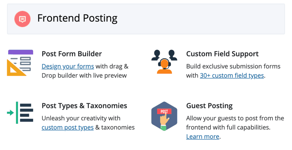 WP User Frontend Pro: Frontend Posting