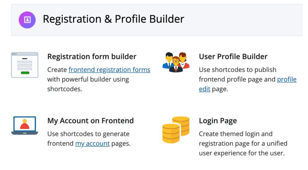 WP User Frontend Pro: Registration & Profile Builder