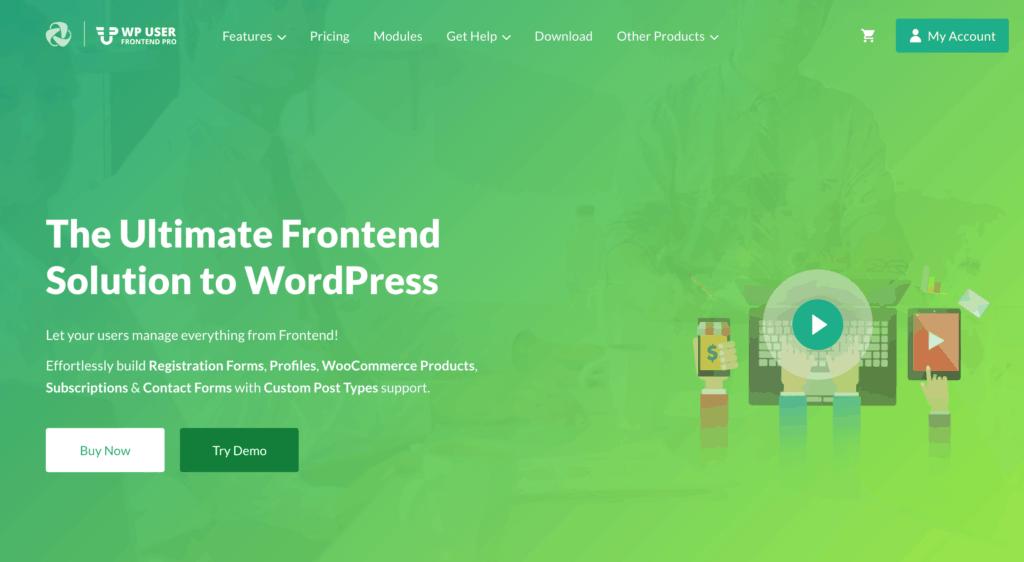 WP User Frontend Pro website